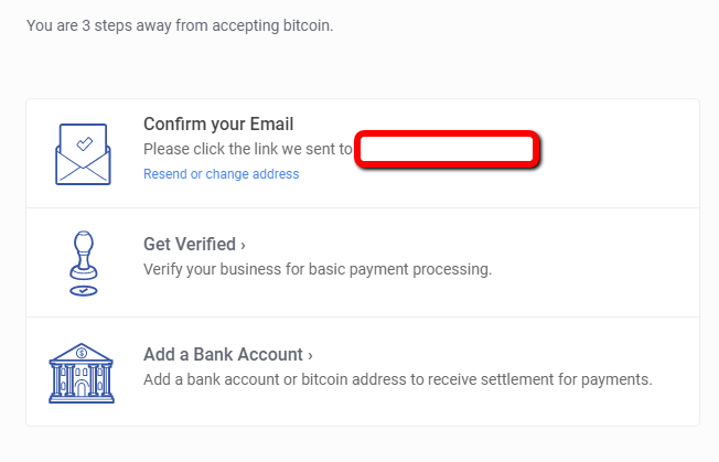 Step 4: confirm bitpay email