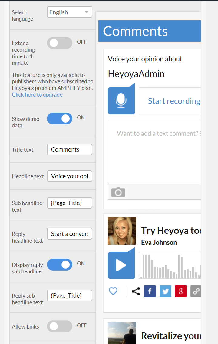 Heyoya Review : How To Get Voice Comment System On Your WordPress Blog REVIEWS  plugins