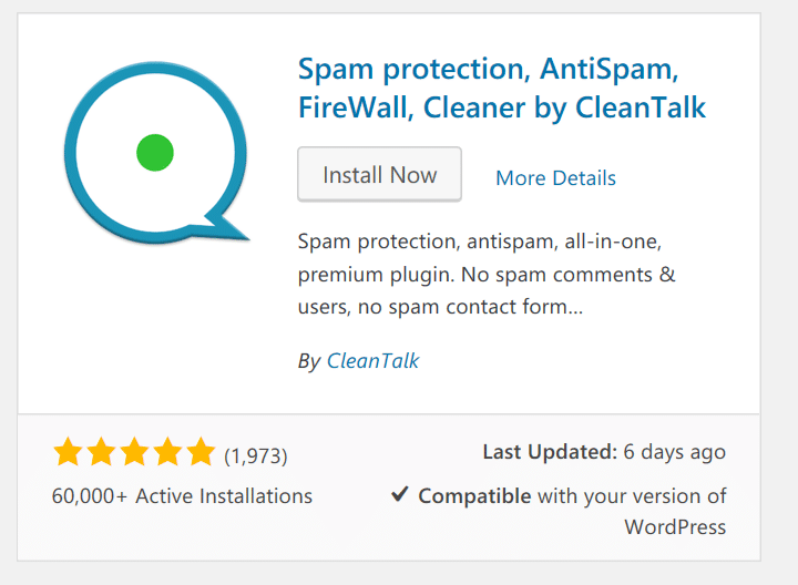 Install the spam protection and firewall plugin by cleantalk