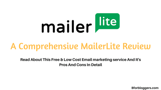Specifications For  Mailerlite Email Marketing
