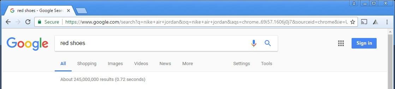 Affilitizer first step: enter any keyword in google