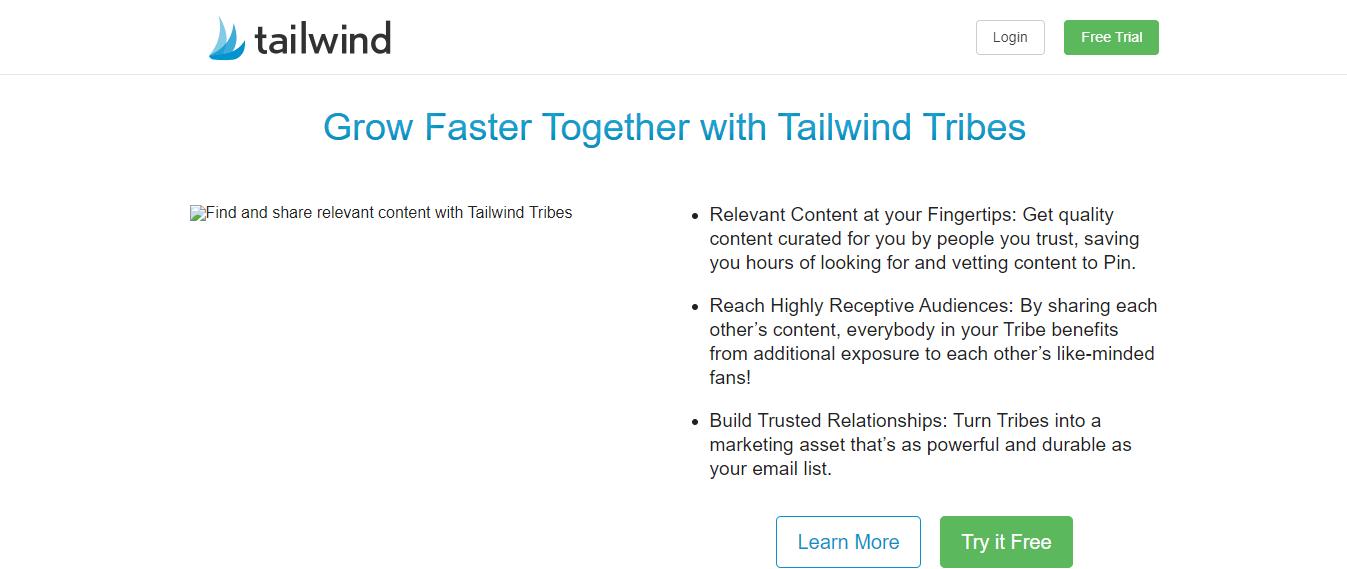 Tailwind Pinterest Instagram Scheduler SMM Marketing Tool