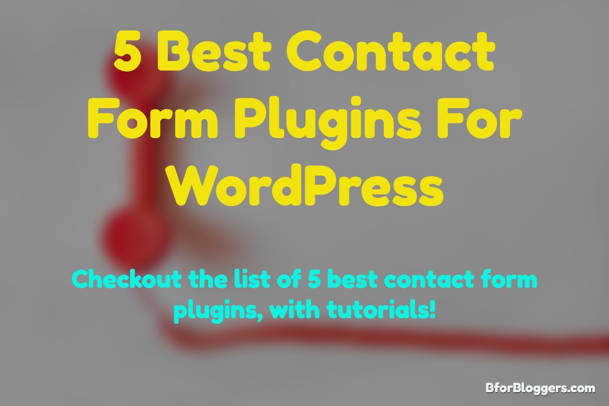list of best contact form plugins for wordpress with tutorials