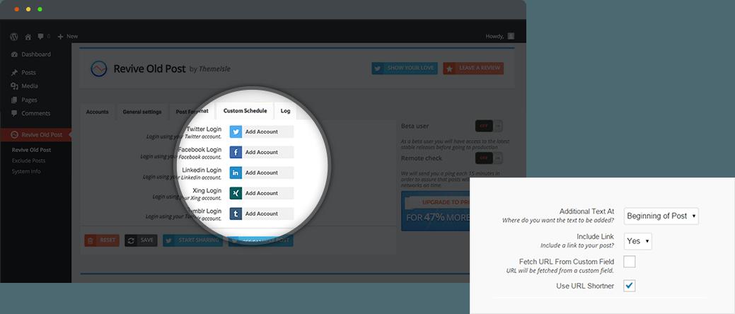 revive social plugin setup