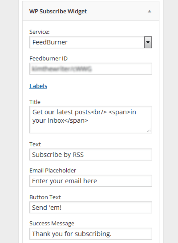 how-to-add-feedburner-id-in-wp-subscribe-plugin-settings
