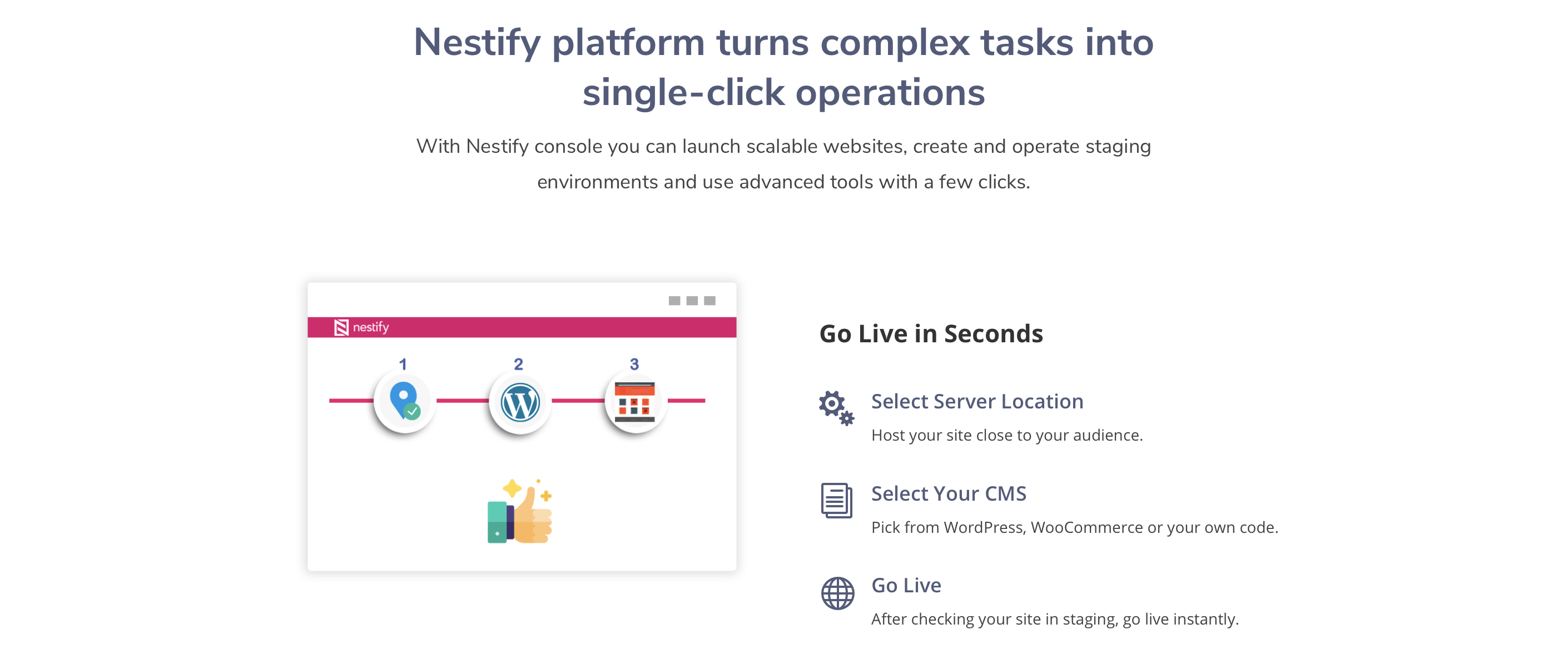 single-click-launch-servers-and-CMS-selection