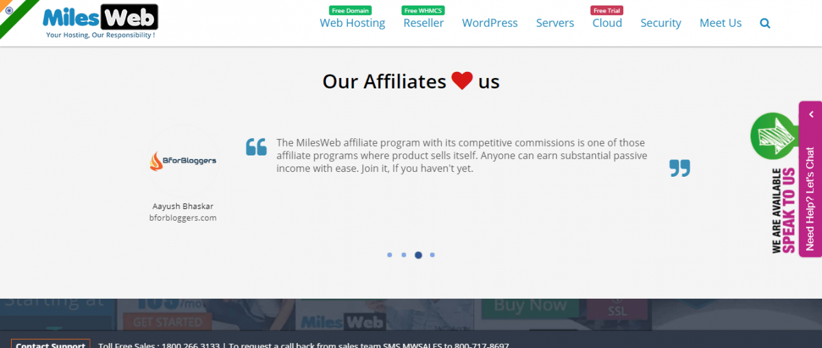 MilesWeb-Hosting-Featured-BforBloggers-as-top-partner