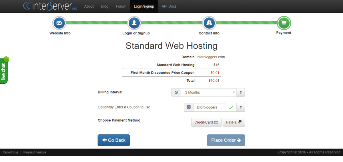 Order-Webhosting-with-interserver-promo-code