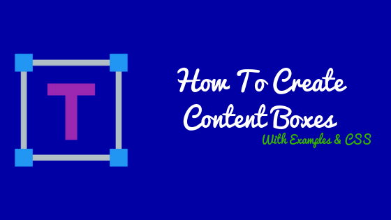 How To Create A Content Box In WordPress