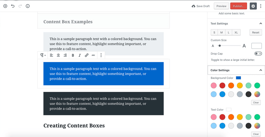 content-boxes-in-gutenberg-editor