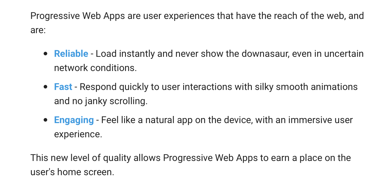 progressive-web-apps-main-highlights