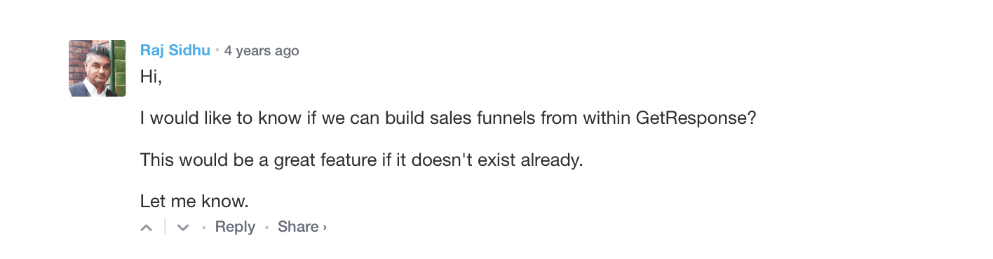 sales-funnel-demand-in-comments-on-GetResponse-blog