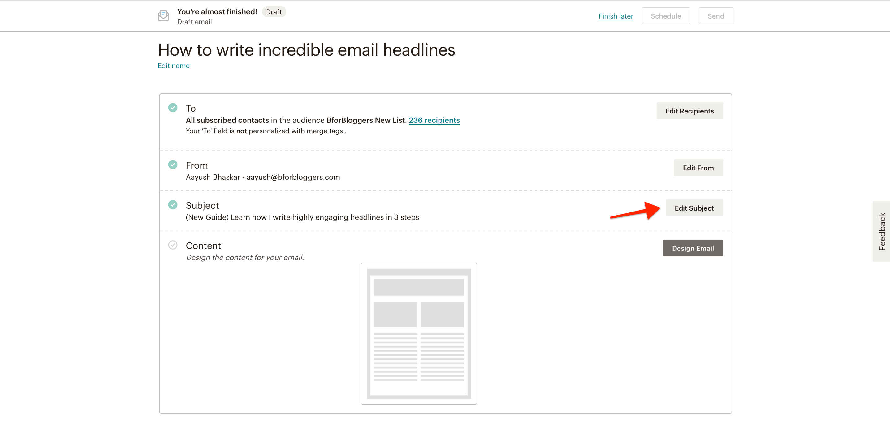 add-a-subject-for-your-email-newsletter