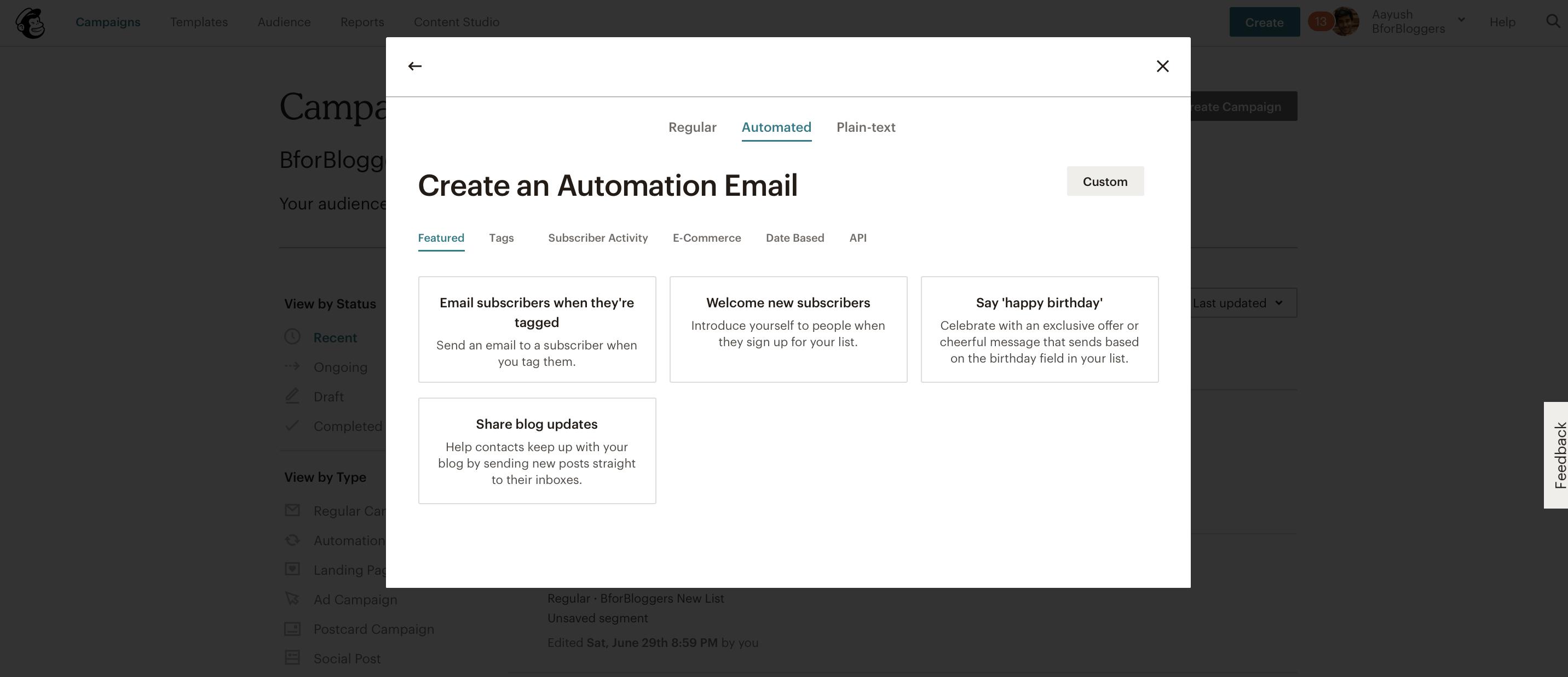 autoresponders-in-mailchimp