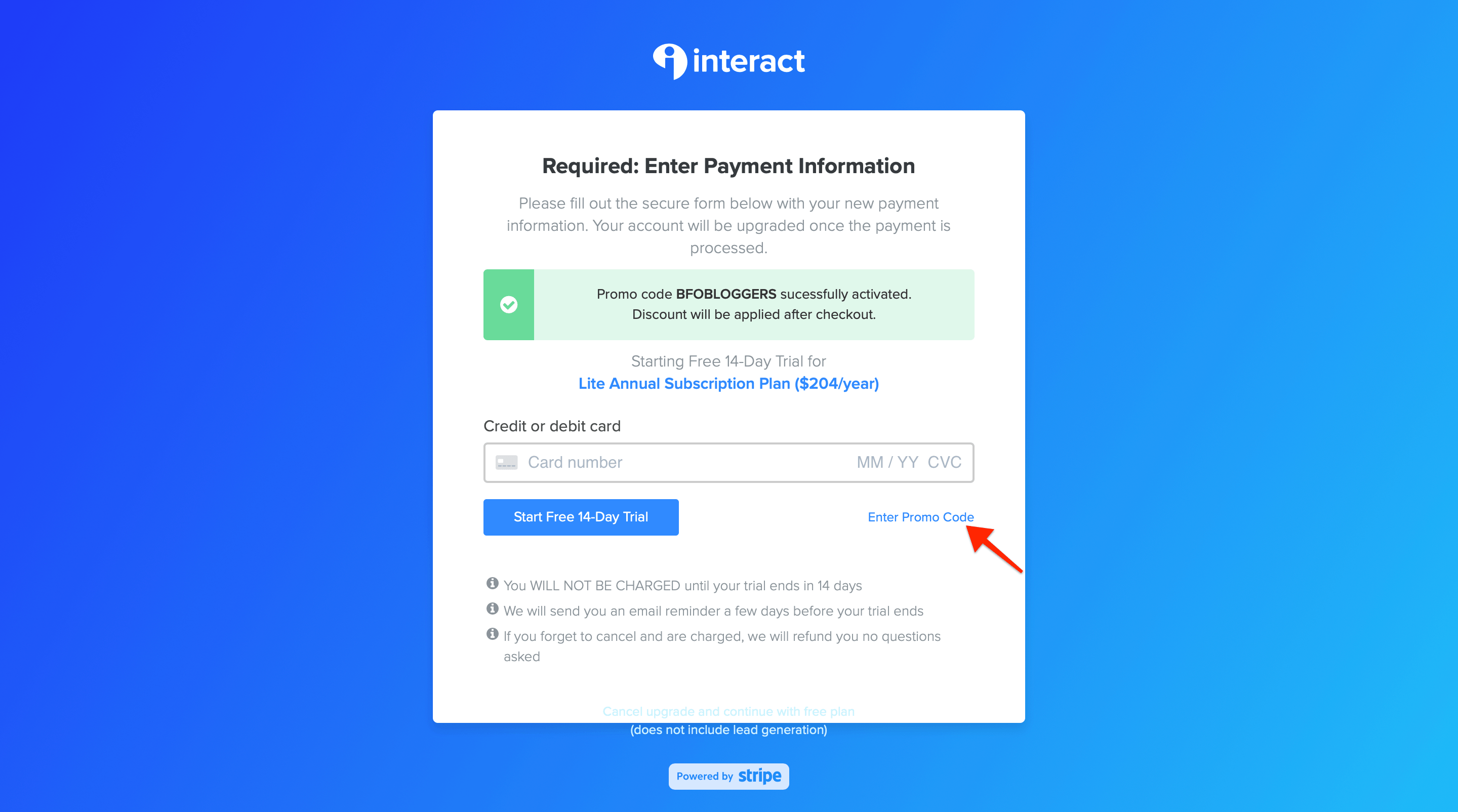 enter-coupon-code-in-interact-billing-information-page