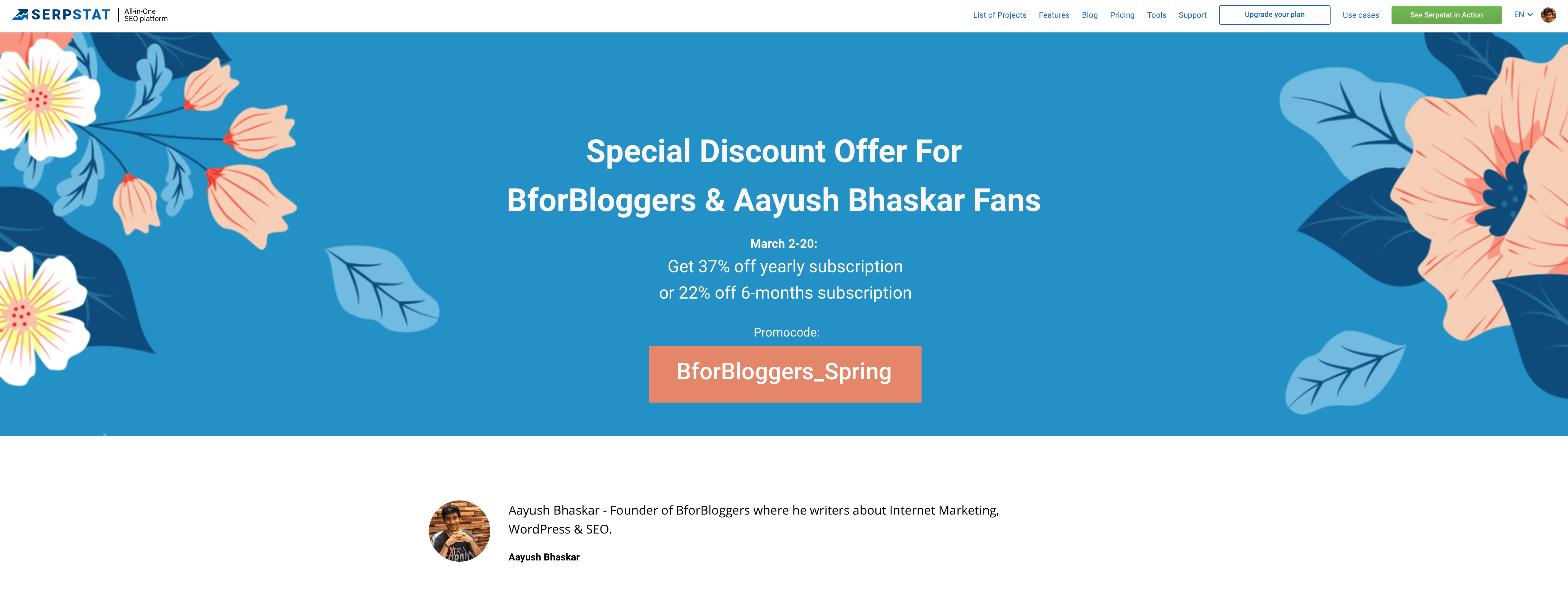 BforBloggers-special-discount-on-SERPstat