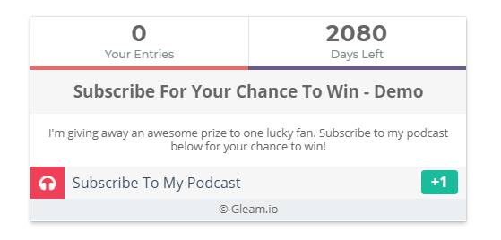 gleam-for-giveaways