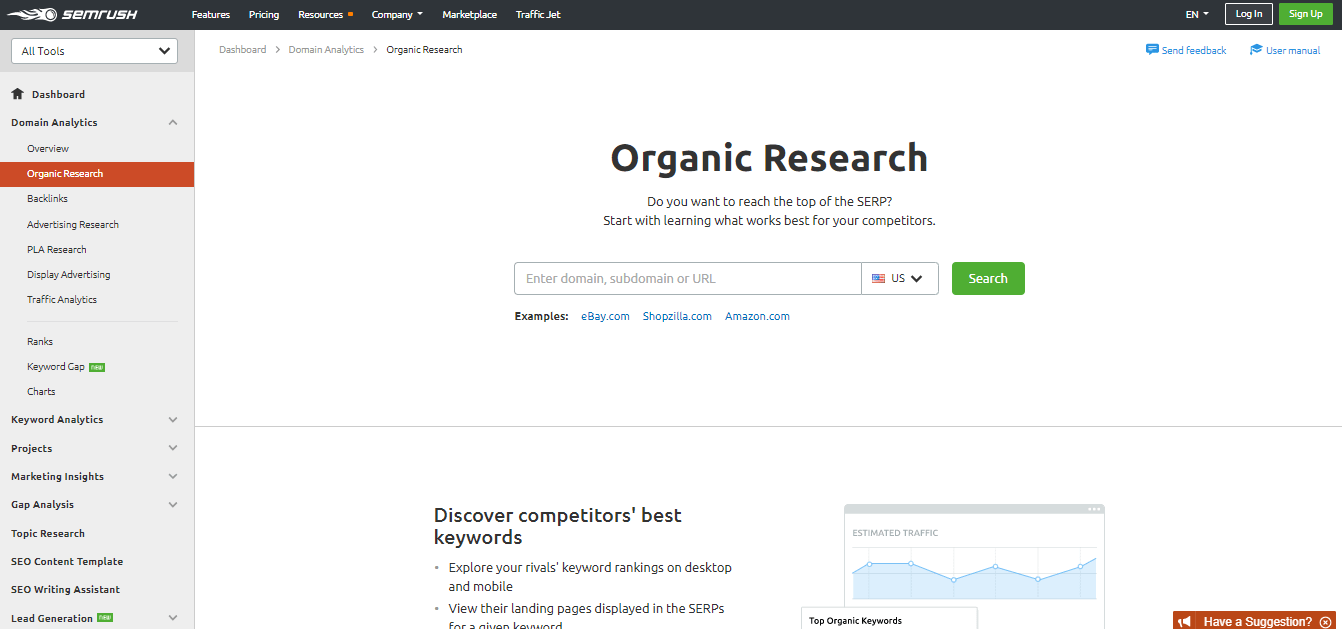 SEMRush-Organic-Research-Tool