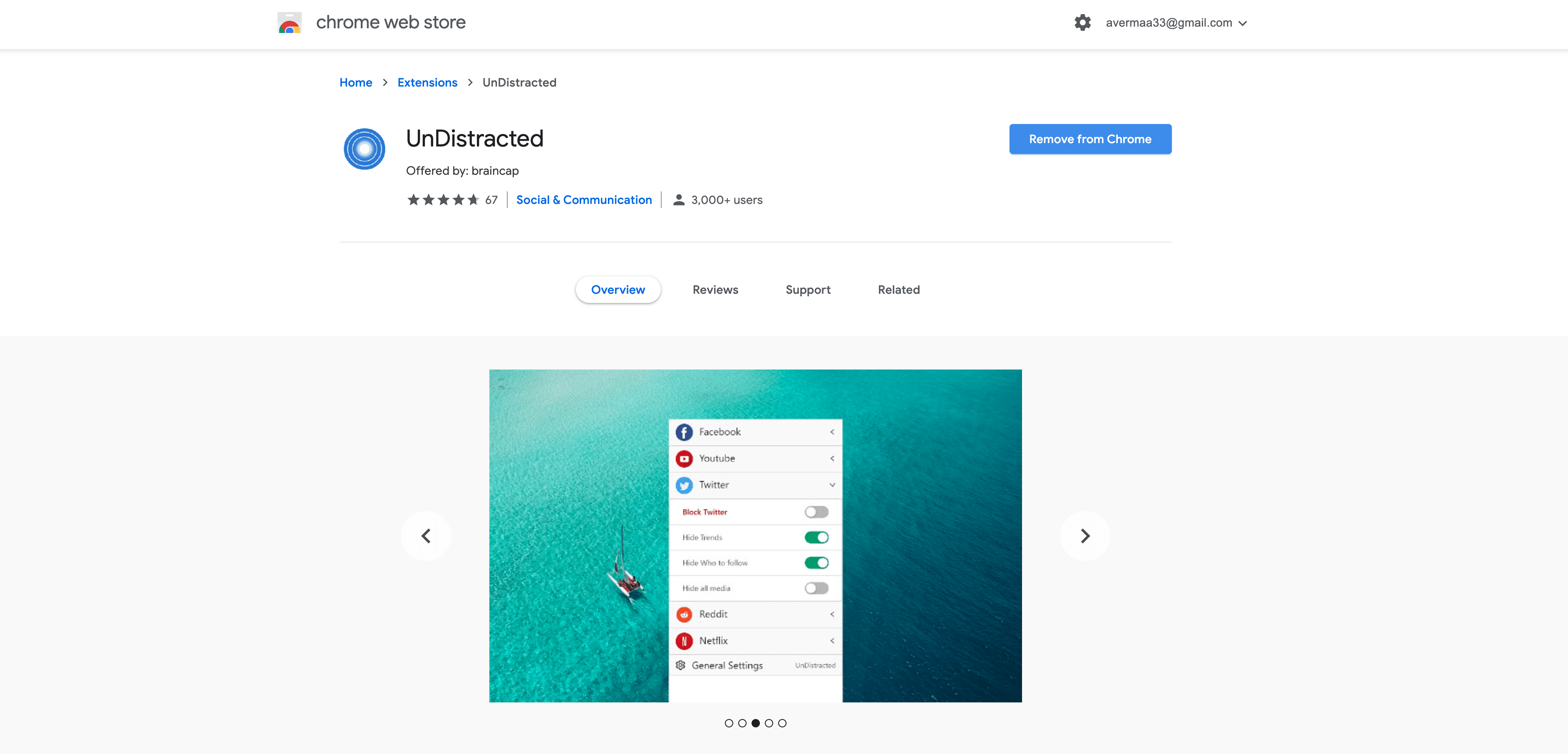 Undistracted-chrome-extension