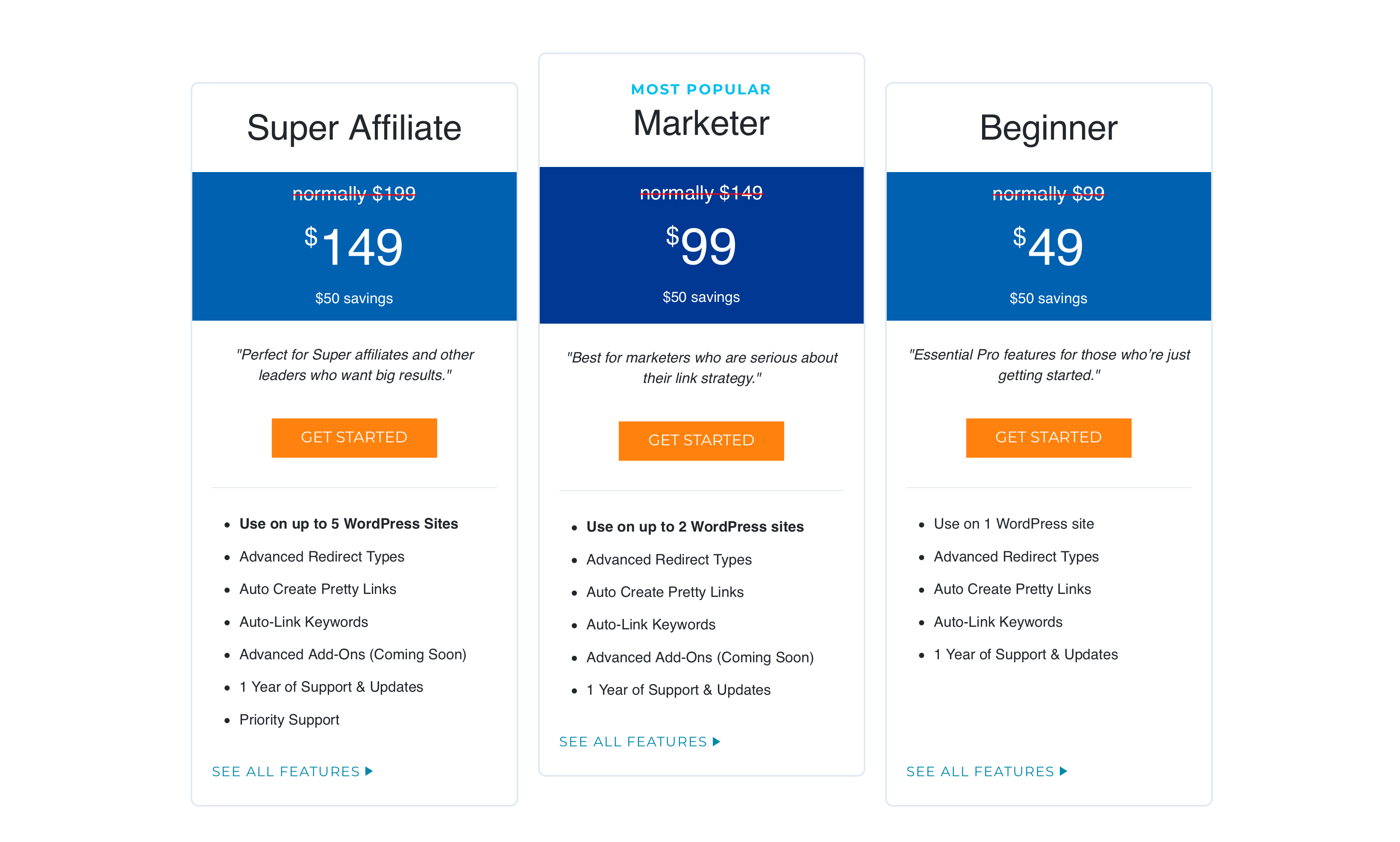 pretty-links-pricing-and-plans