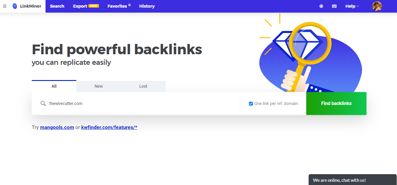 LinkMiner-Website-Backlink-Analysis