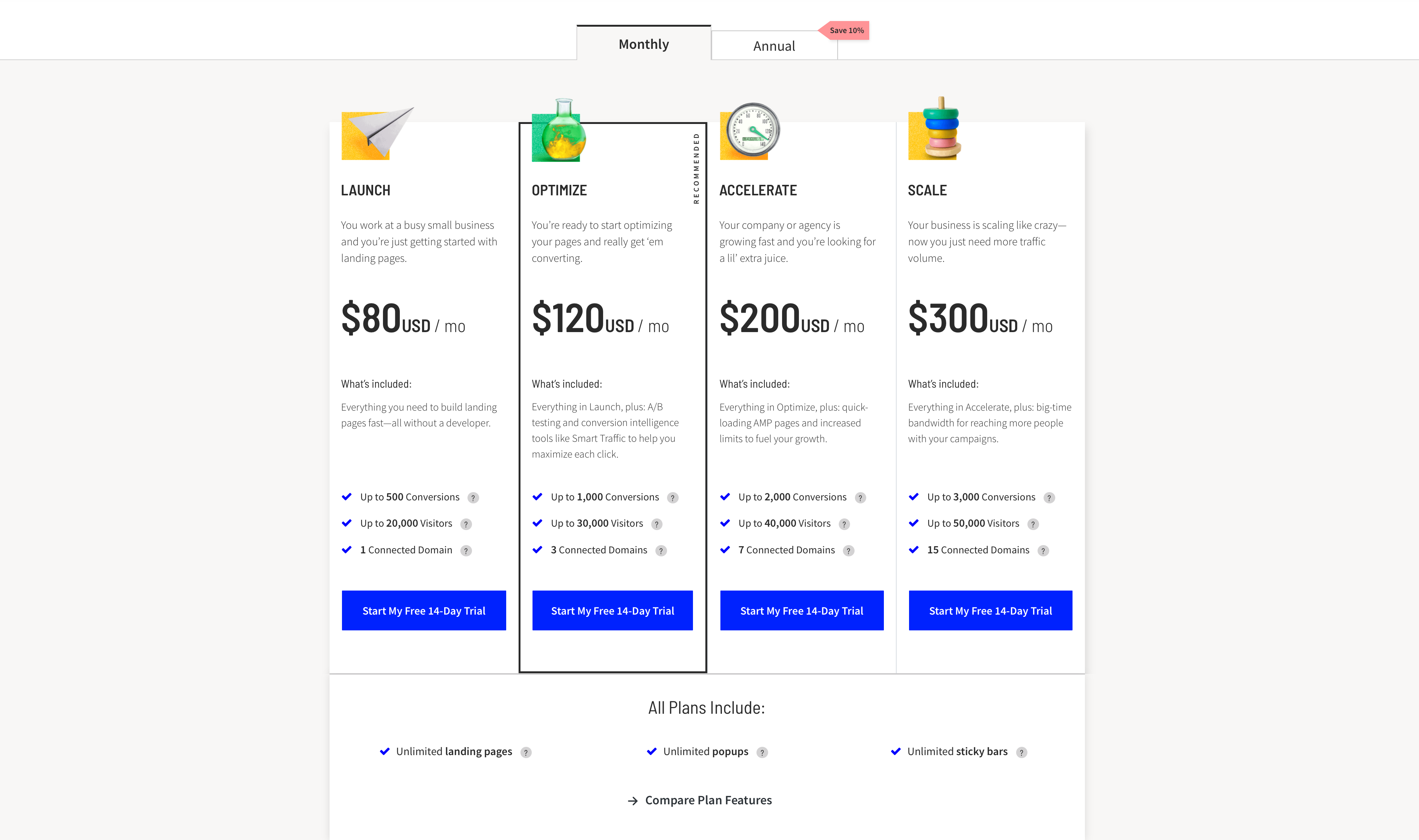 unbounce-pricing-before-applying-coupon