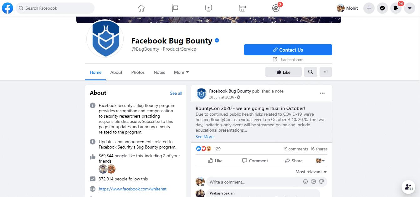 Facebook-Bug-Bounty-Program