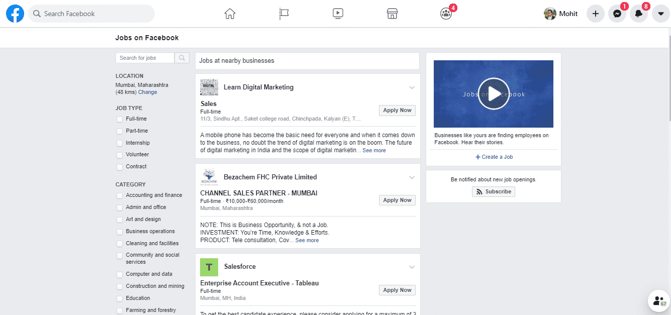 Find-Job-Opportunities-on-Facebook