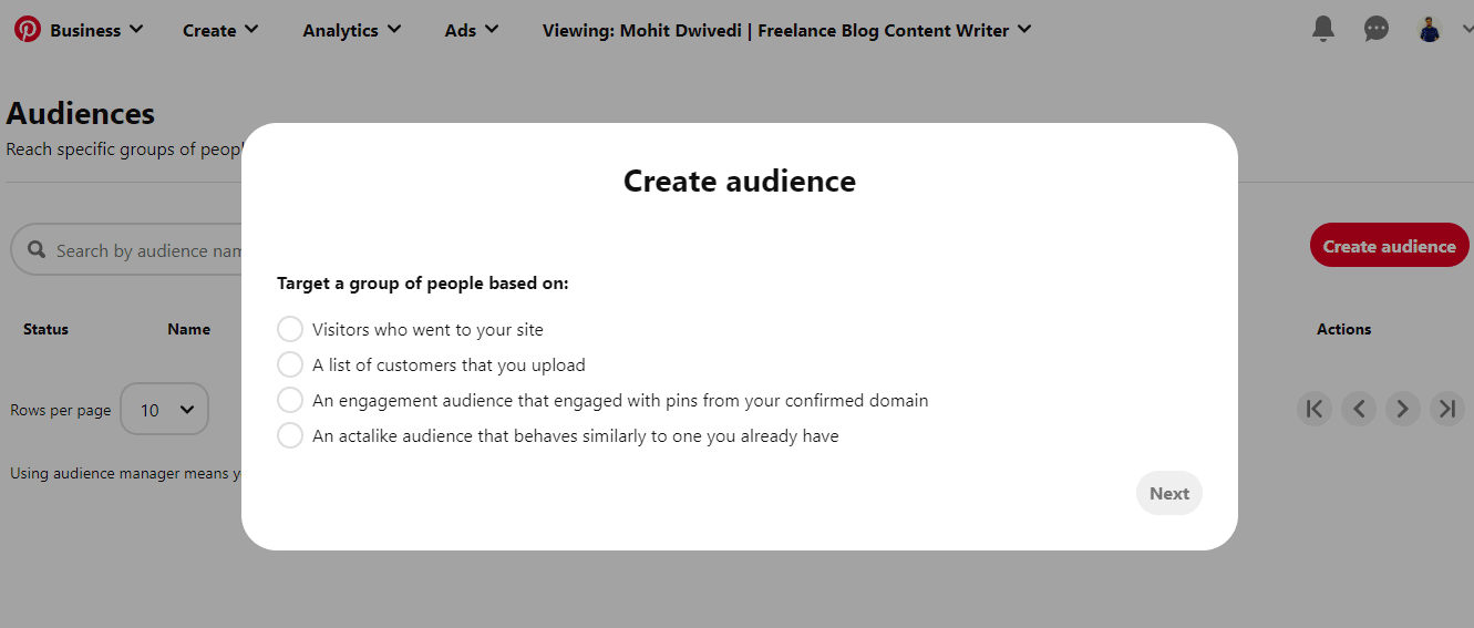 Create-Audience-in-Pinterest-Ads-Manager