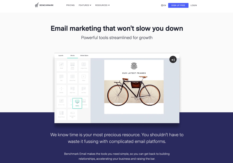 Benchmark-email-marketing-service