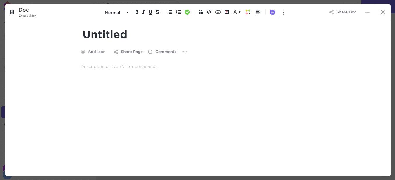 ClickUp-Docs-Editor
