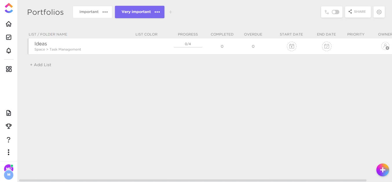 ClickUp-Portfolio-Dashboard