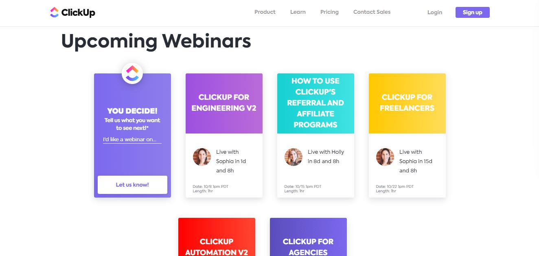 ClickUp-Webinars