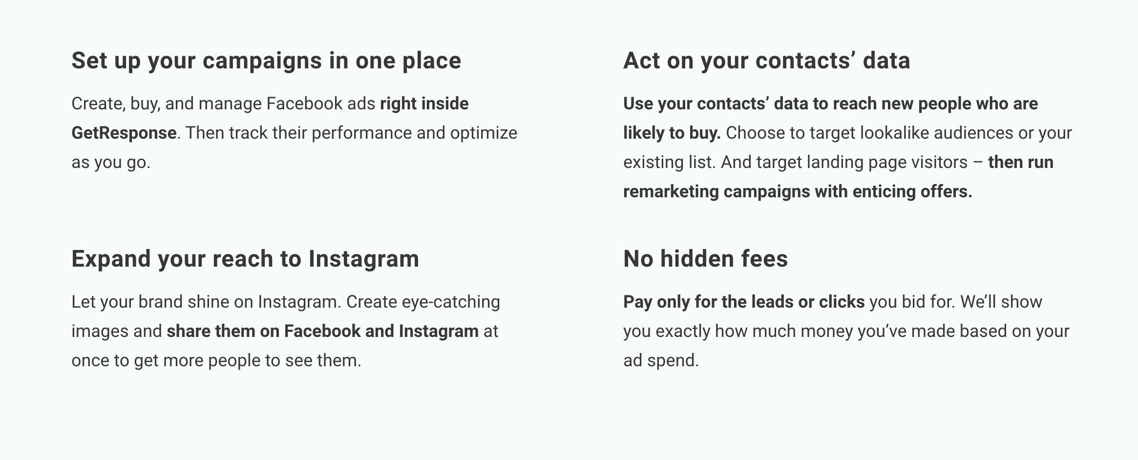 GetResponse-fb-ads-publishing-tool-advantages