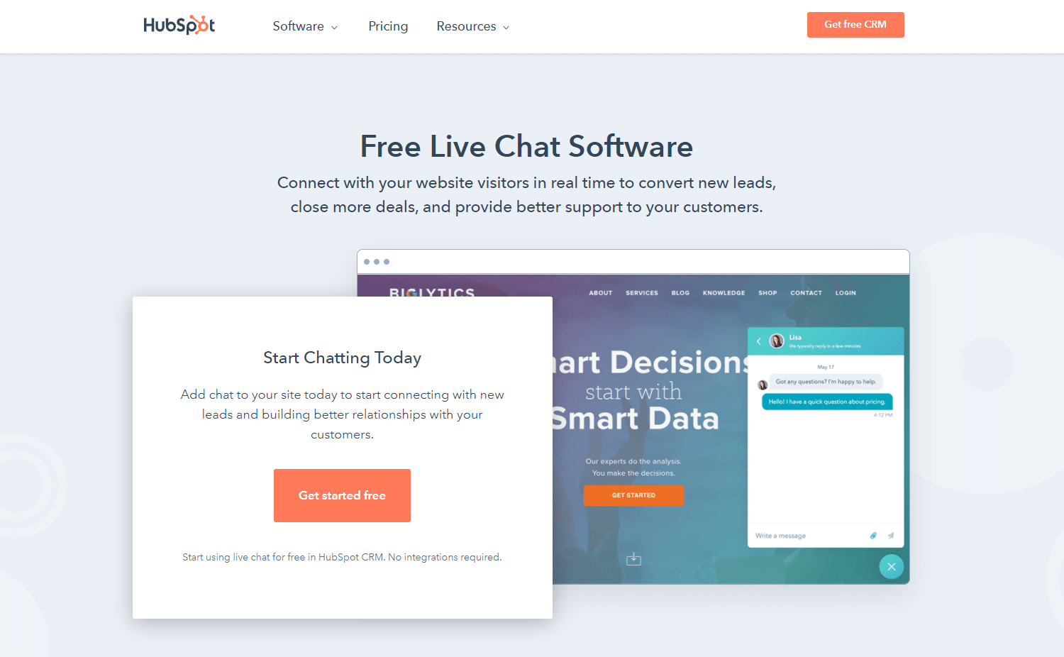 hubspot-free-live-chat-for-business
