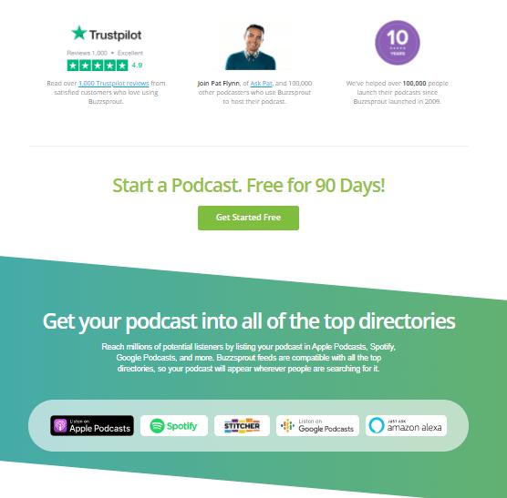 Buzzsprout's website