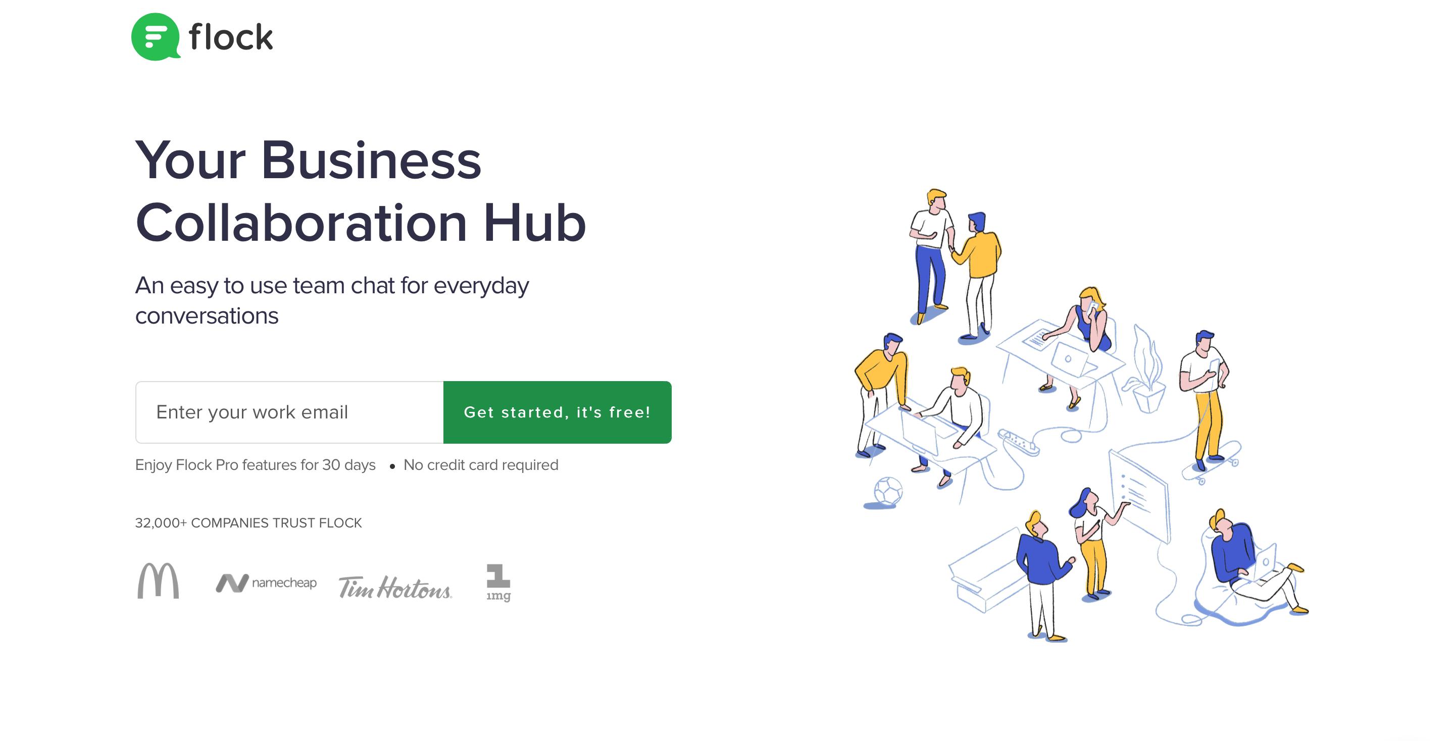 flock business collaboration hub