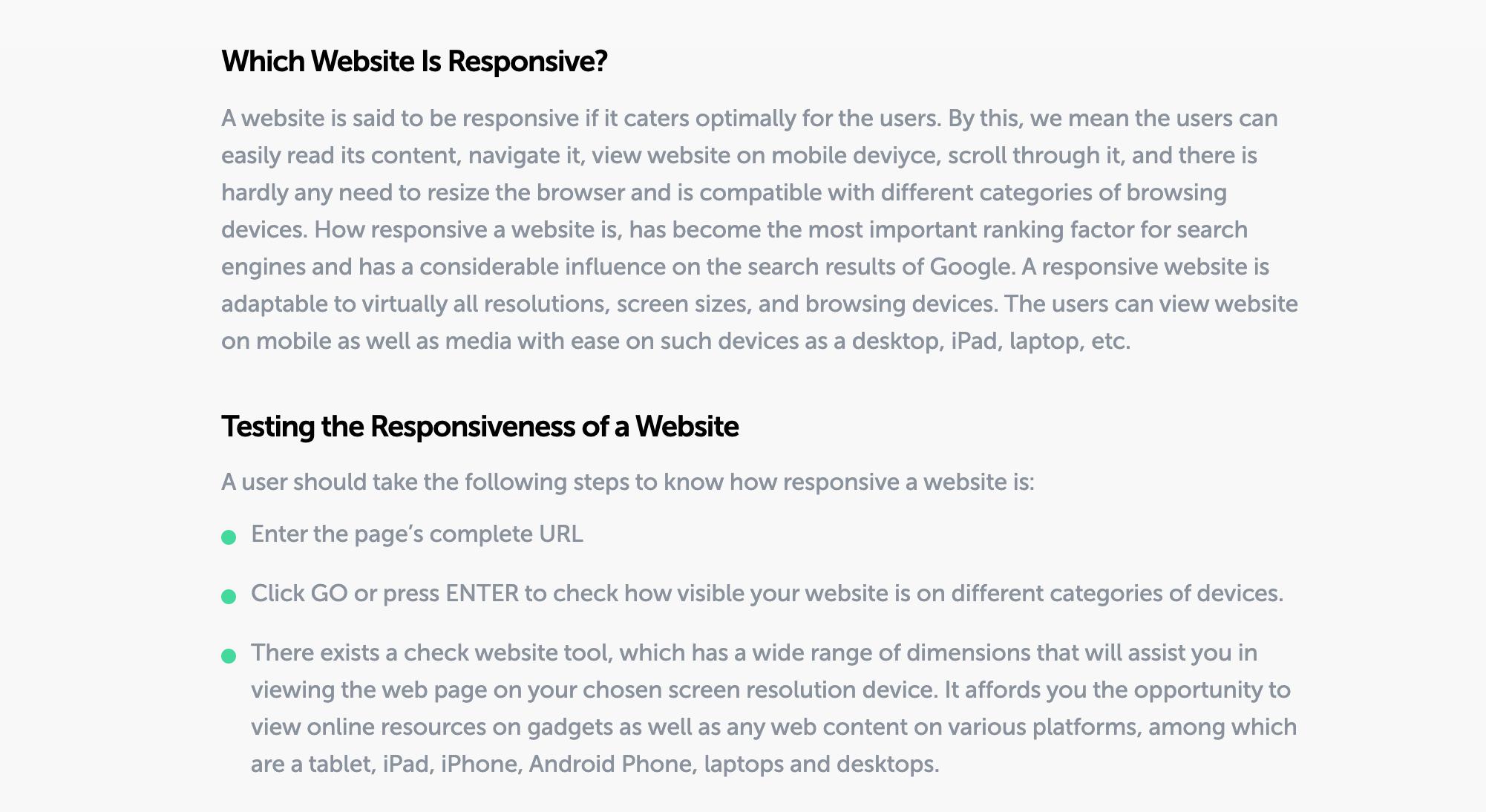 test website responsiveness