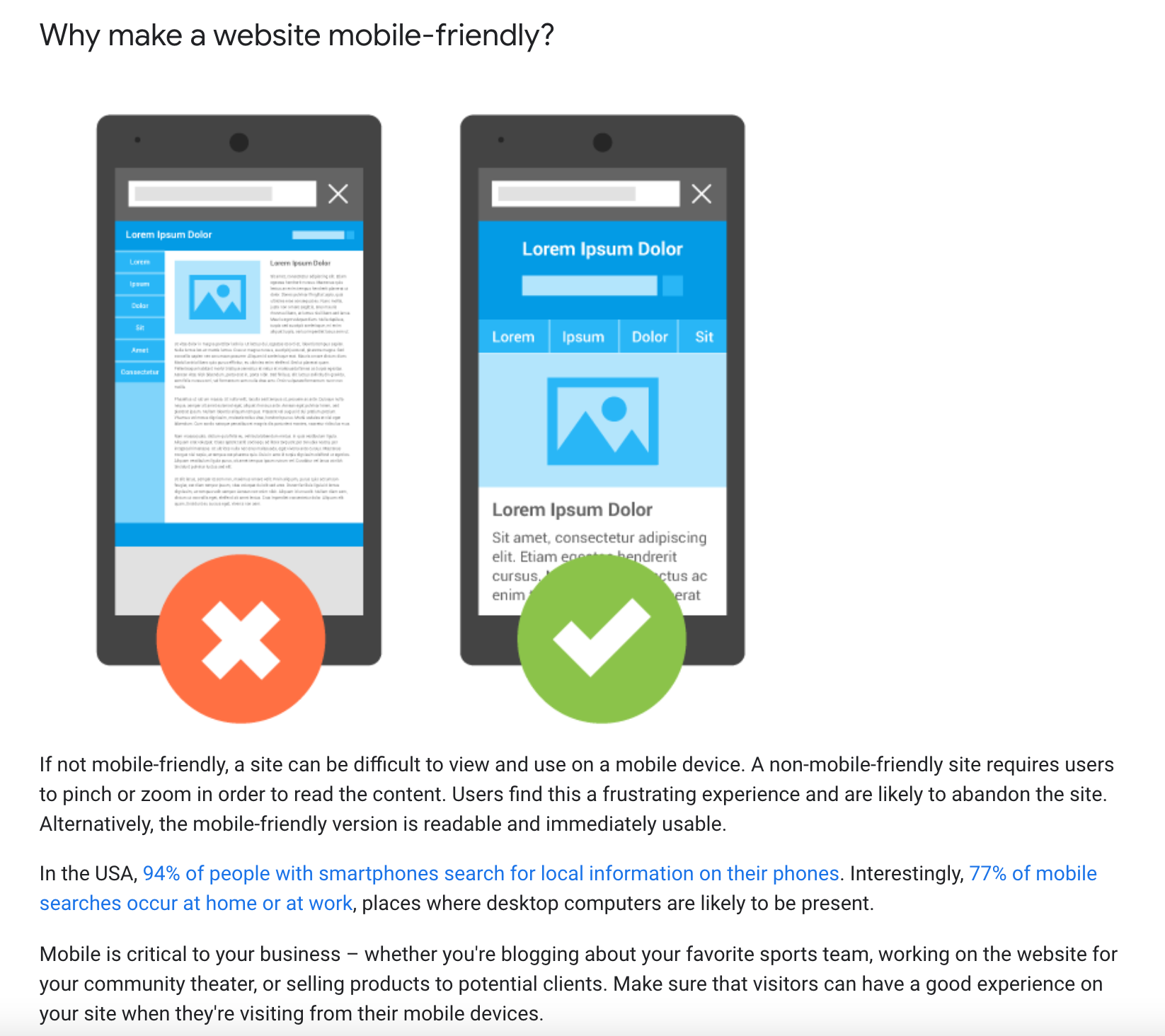 why make your website mobile friendly Heres Googles answer.