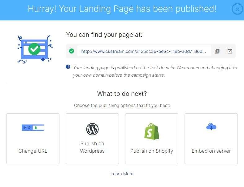 landingi publishing
