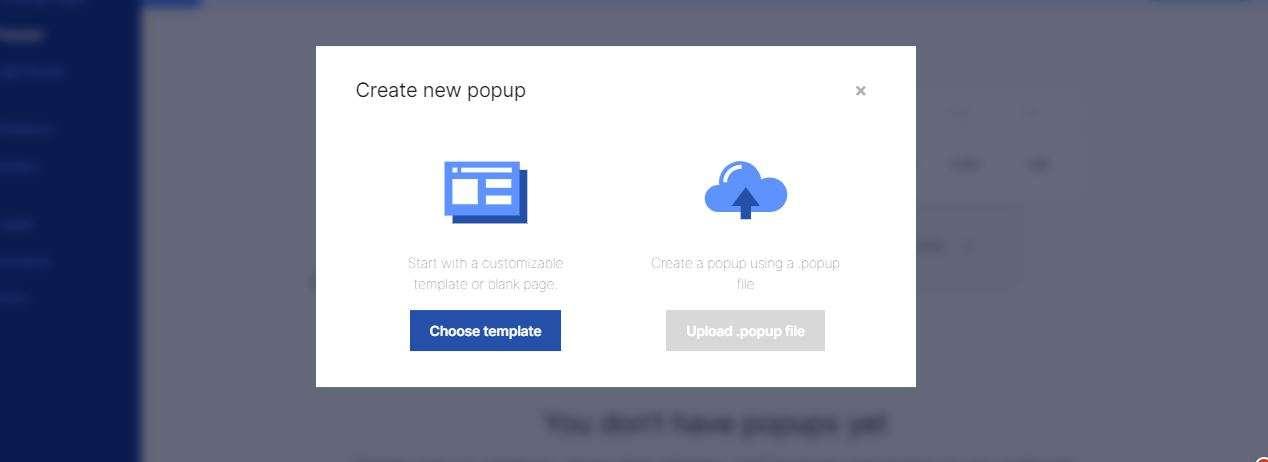 popup template